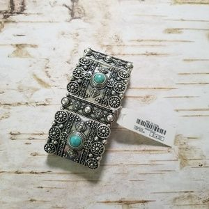 Charming Charlie Jewelry - Charming Charlie Silver & Turquoise bracelet nwt